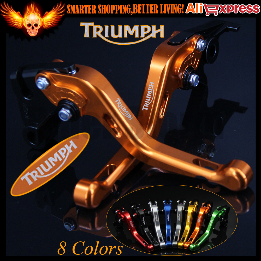 ФОТО New Yellow 8 Colors CNC Aluminum Motorcycle Short Brake Clutch Levers For Triumph SPEED TRIPLE 1050/S 2016