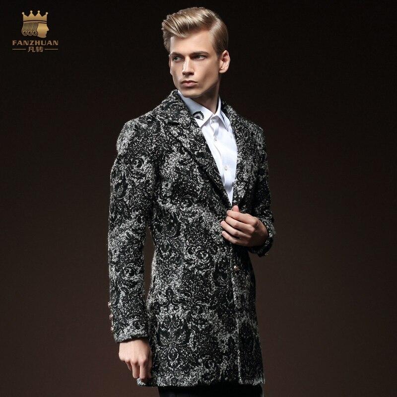 Бесплатная доставка Новая мода мужской 2015 зима мужской s длинный рукав шерсть тонкий длинный шерстяной пальто Молодежный 0119 распродажа