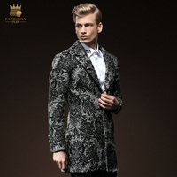 Free Shipping New fashion male Men's 2015 winter Mens Long Sleeve wool slim long wool coat youth 0119 On Sale fanzhuan