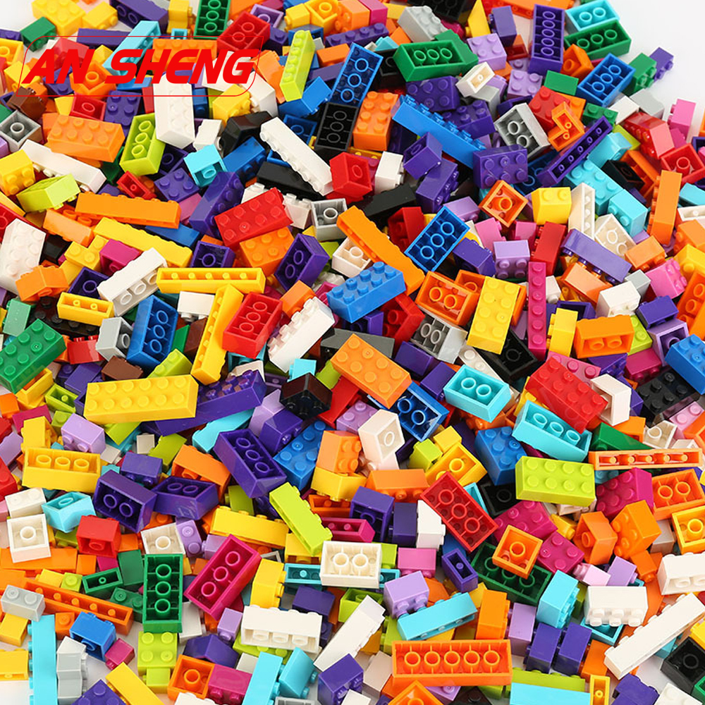 1000 Pieces Building Blocks Bricks Kids Creative Toys Figures For Blocks Girls Kids Birthday Gift Compatible Duploe Legoes