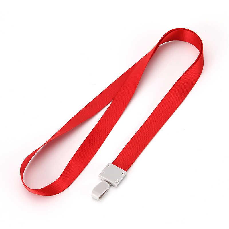 Tanie wiszące smycz na szyję dla iPhone telefon komórkowy pasy aparat USB uchwyt ID Pass nazwa karty odznaka uchwyt klucze metalowy klip