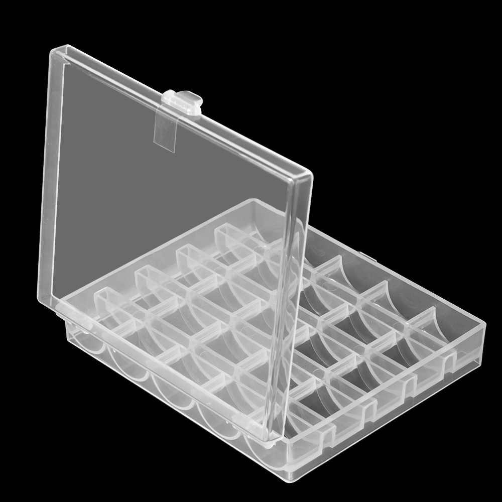 25 יח'\סט רובינס תיבת סט תפירת תיבת אביזרי סלילי מכונת תפירת ספקי פלסטיק אחסון תיבת עבור תפירת אביזרי כלים