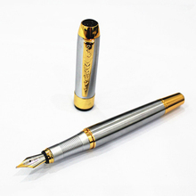 Jinhao 250 Executive Golden and Silver M Nib Fountain Pen Brand Stainless Calligraphy Pens for School Office Gifts Stationery