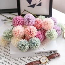 Nordic Simulation Flower Dandelion Small Ball Chrysanthemum Living Room Potted Arrangement Wedding Decoration