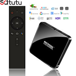 2019 MECOOL KM3 ATV Androidtv 9,0 уже сертифицировано Google 4 GB 64 GB Amlogic S905X2 2,4G 5G двойной Wi-Fi BT4.0 4 K Декодер каналов кабельного телевидения