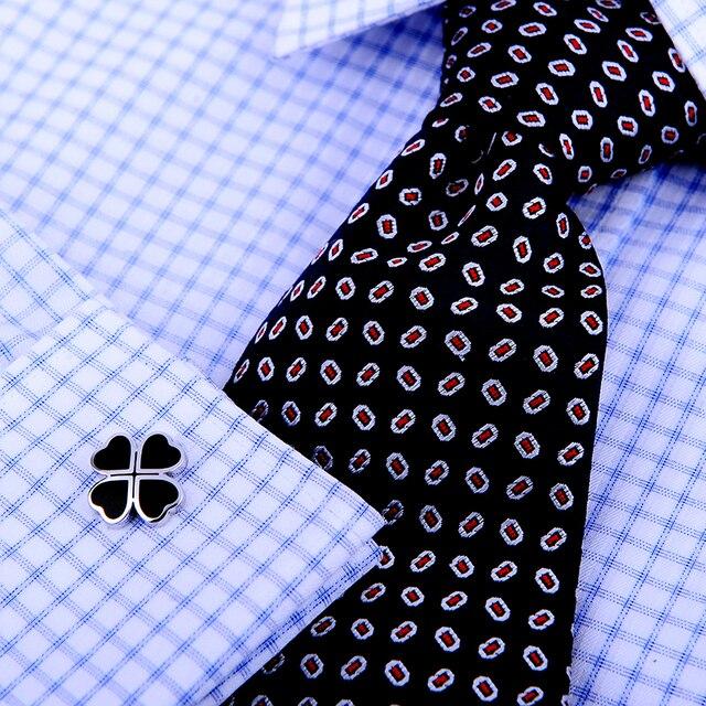 Фото kflk французские запонки для рубашек мужские брендовые с черным
