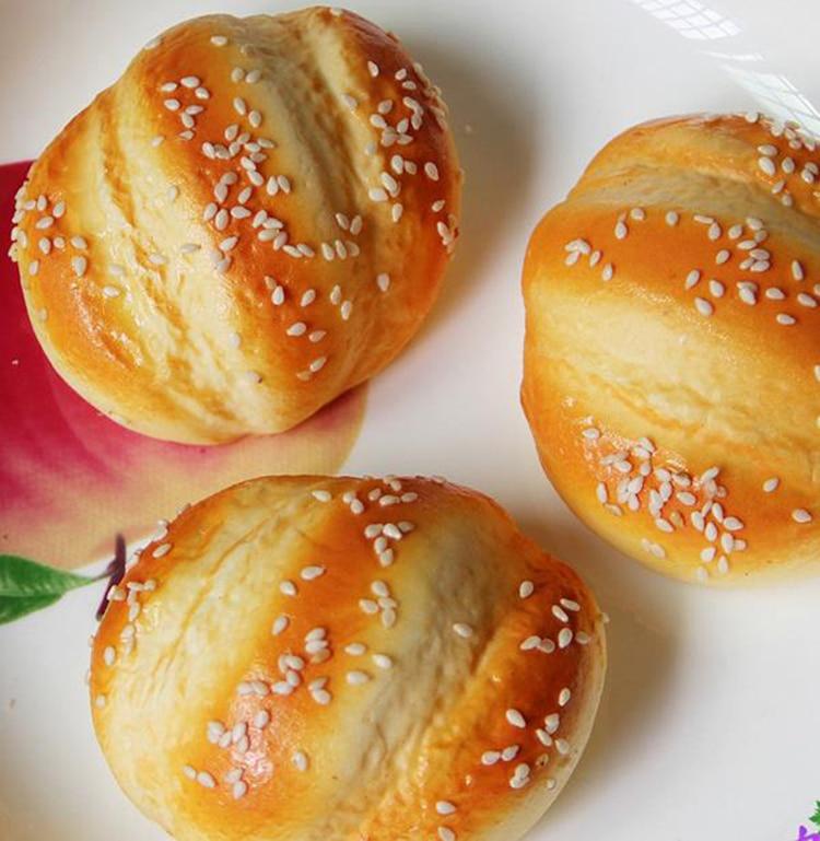 50PCS squisy Jumbo 7CM simulation bread model very soft Squishy high quality cheap wholesale