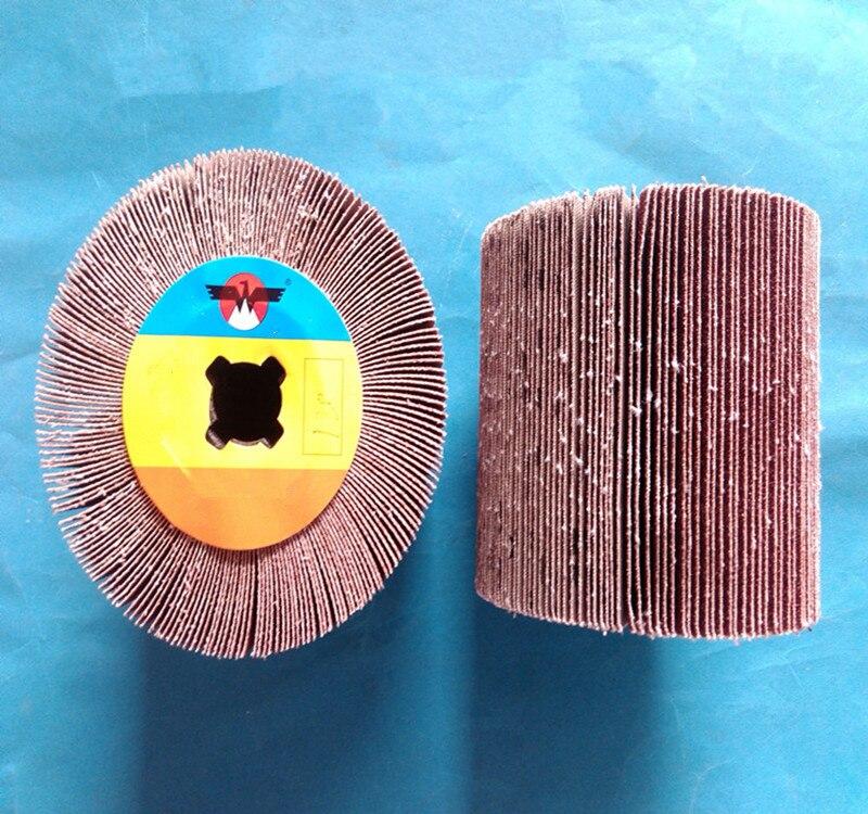 120mm X 100mm Drum Fiber Abrasive Polishing Wheel For Stainless Steel Polishing