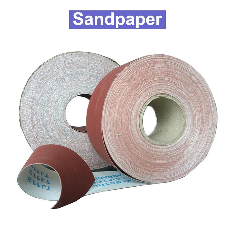 80/100/120/150/180/240/320/400/600 1meter Emery Cloth Roll Polishing Sandpaper For Grinding Polishing Tools Metalworking Dremel