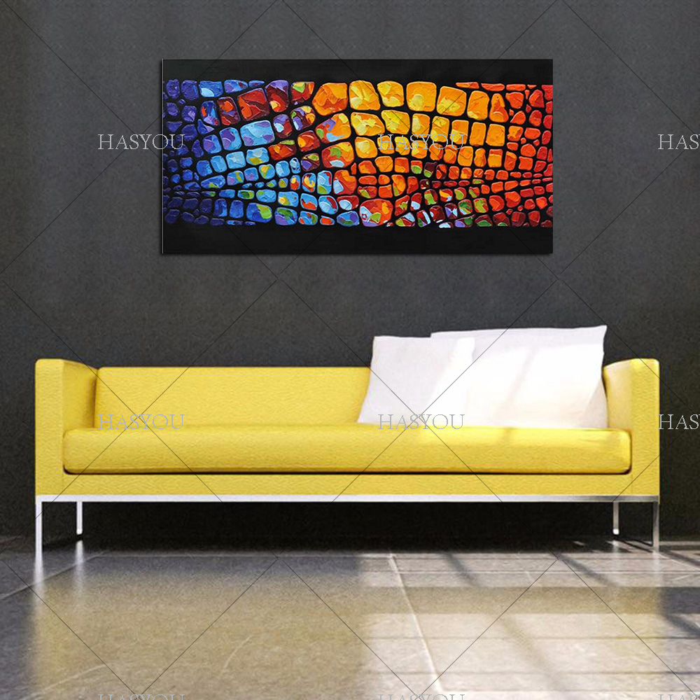 King Size Pure Hand painted High Quality Abstract Wall Art Oil ...