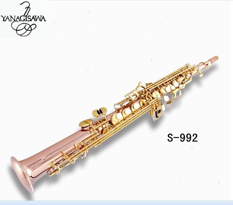 Yanagisawa Nouveau Saxophone Soprano S992 B plat Phosphore copperTop Instruments de Musique Saxophone Soprano professionnel livraison gratuite