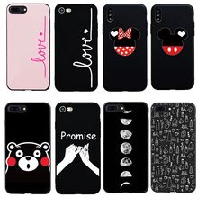 dcb2ab34c6 Case For iPhone 7 8 Plus X Lover Mickey Minnie Couple Kumamon Coque For iphone  6 6S SE 5 Best Friends Phone Accessories