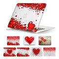 Gifts for Girl Flying Red Hearts Clear Crystal Cover Case for 13 15 inch Macbook Pro Retina laptop Case for Macbook Air 11 13