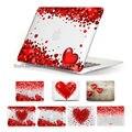 Presentes para a menina voando vermelho corações Crystal Clear Case capa para 13 15 polegada Macbook Pro Retina laptop Case para Macbook Air 11 13