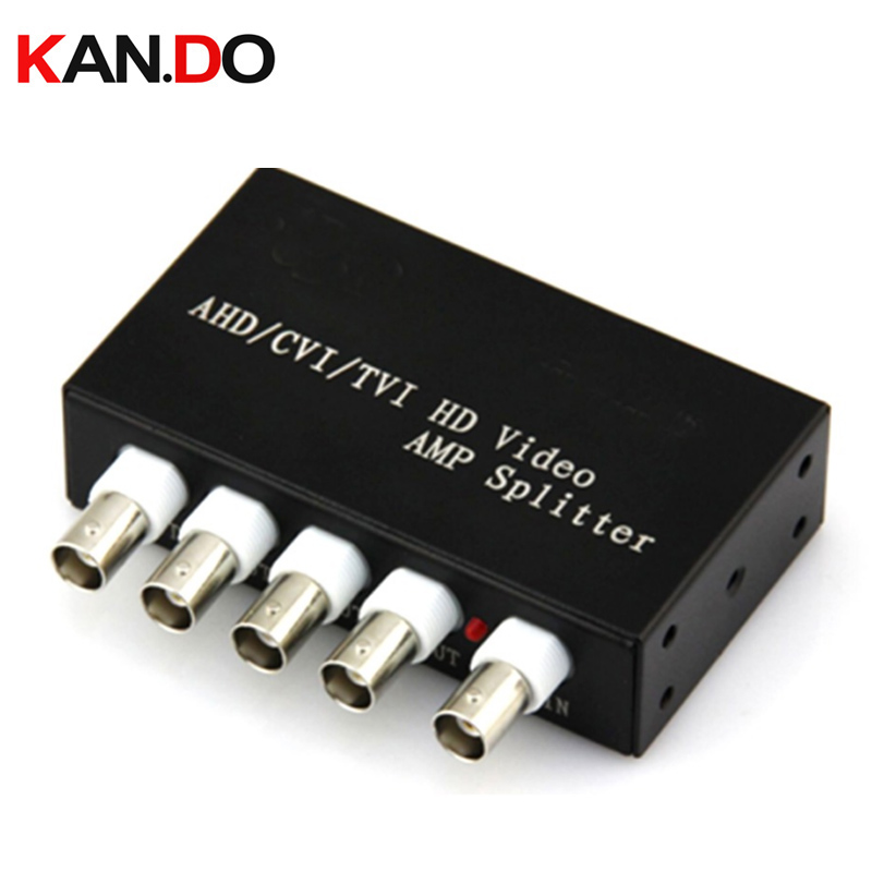 1 In 4 Out AHD TVI CVI Video Distributor Amplifier 1CH To 4CH Splitter For CCTV Security Camera System BNC 1x 4 Video Splitter