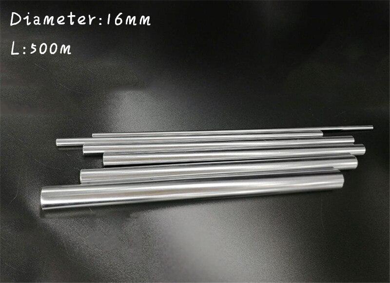 Livraison gratuite 2 pièces diamètre 16mm-500mm Cylindre chromé Linéaire Rail Tige Ronde Arbre Arbre De Mouvement Linéaire pour CNC XYZ