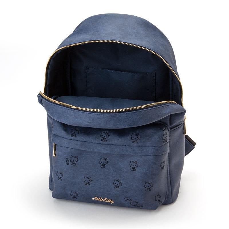 ce1089493e0c Hello Kitty Bag Blue Denim PU Leather Backpack Children School Bag for Girls  Women Fashion Cute Back Pack Rucksack Travel Bag-in Backpacks from Luggage  ...