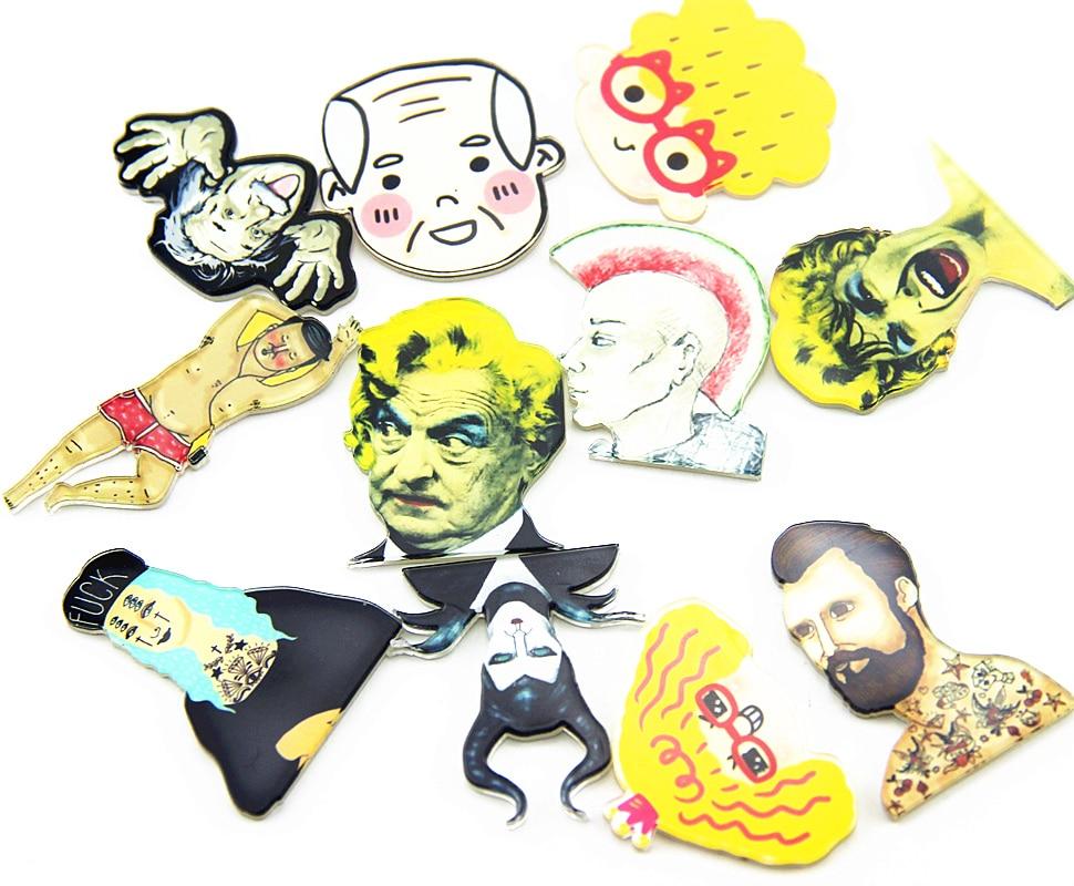 Creative cartoon harajuku Portraits etc icon badge clothing shoes acrylic badge brooch backpack home decor icon pin badges