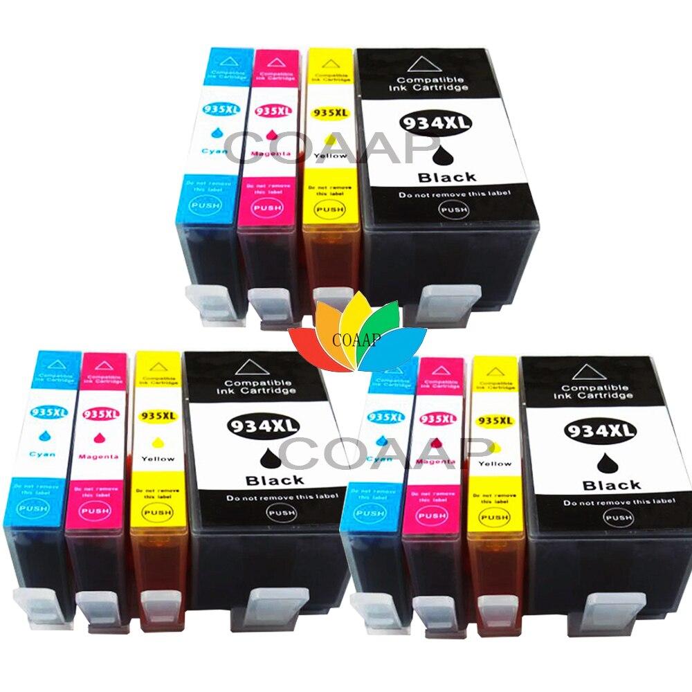 12x cartouches d'encre pour Compatible HP 934 XL + HP 935 XL OfficeJet Pro 6230 6800 série 6820 6830c