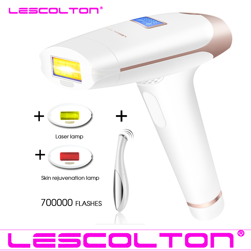 100 Original Lescolton 3in1 700000 pulsed IPL font b Laser b font Hair Removal Device Permanent