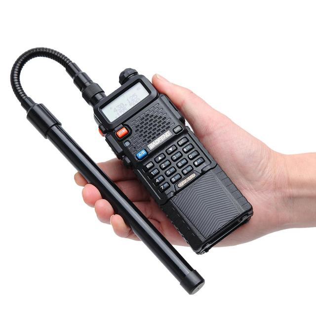 ABBREE AR 148 col de cygne SMA femelle double bande 144/430Mhz pliable CS antenne tactique pour Baofeng Kenwood talkie walkie Radio