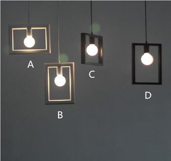 4 heads Led pendant light modern brief personality american style Pendant lamp bar counter Led lamp White /black for sale