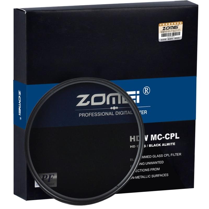ZOMEI HD Optical Glass CPL Filter Slim Multi-Coated Circular Polarizer Polarizing lens filter 40.5/49/52/55/58/62/67/72/77/82mm