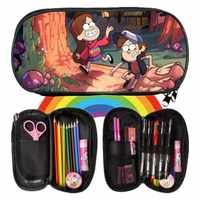 New Fashion Printing 3D Gravity Falls Children Coin Purses Kindergarten Girls Small Kids Baby Pencil Case For Student Pen Bags