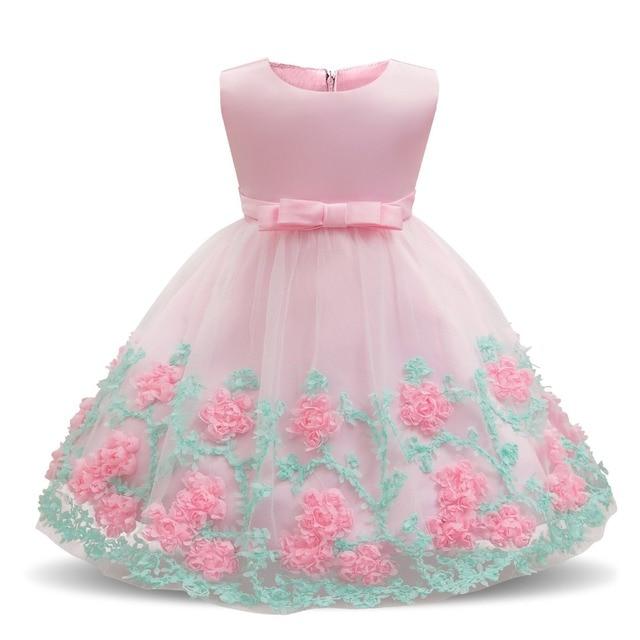 93b59ef8b9 Letnie Sukienki Dla Dzieci Newborn Baby Girl Chrzest Sukienki dla Kwiatów  dziewczyny Ubrania 1 Rok Urodziny