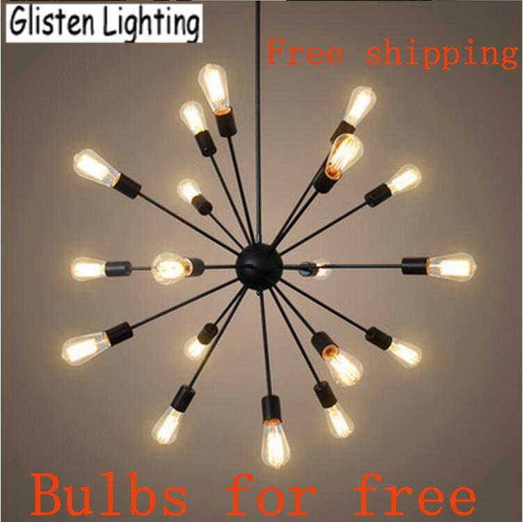 Satellite Iron Pipe Chandelier Vintage Wrought Hanging Light Spherical Spider Lamp Edison Bulbs Ac 110v 240v V20 In Chandeliers From Lights