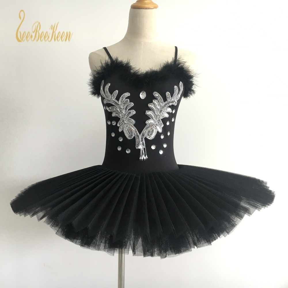 White/Black Swan Lake Ballet Tutu Dress Costume Girls 6 Layers Ballet Costumes For Women Professional Adults Ballerina Dress