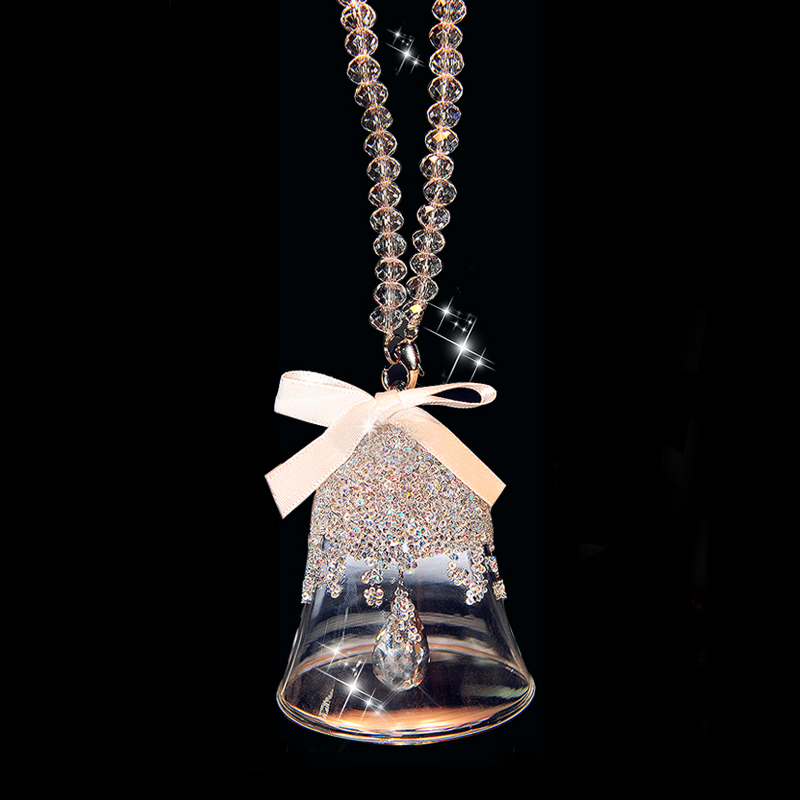 crsytal glass wind chimes crystal bell with beads chain