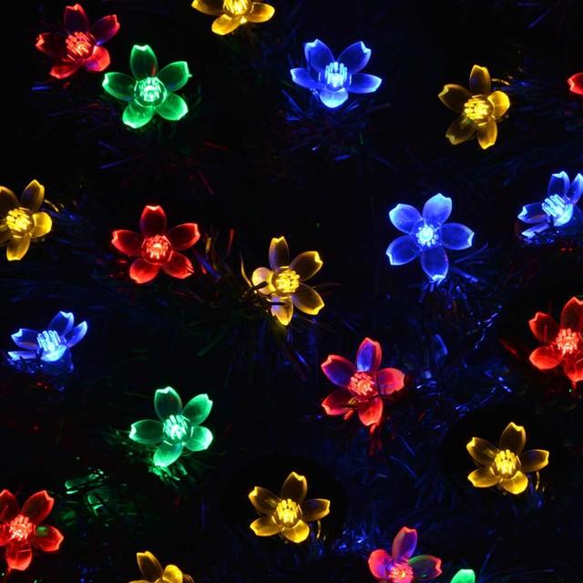 50 LEDS 7M Flower Solar String Lights