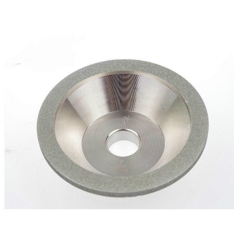 Taiwan One Diamond Alloy Bowl Grinding Wheel Grinding Machine Grinding Wheel Diamond Tungsten Steel Grinding Machine 100D