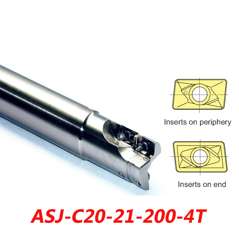 ASJ-C20-21-200 Indexable Drilling And Milling Cutter Arbor For ADMT1003..L+ACMT1003..R Carbide Insert  цены