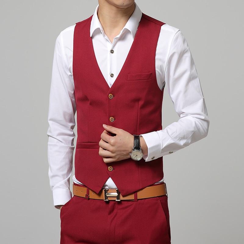 2017 Waistcoat Men New Premium Brand Fine The Groom's Best Man Wedding Dress Men's Suit Vest Male Formal Business Waistcoat