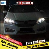 Car Style LED Headlights For Honda City 2015 2017 For City Head Lamp LED DRL Lens