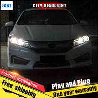 Car Style LED Headlights For Honda City 2015 2017 For City Head Lamp LED DRL Lens