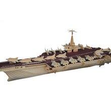 3D деревянные игрушки авианосец противоподводные вертолеты деревянные DIY Пазлы игрушки для детей Рождественский подарок