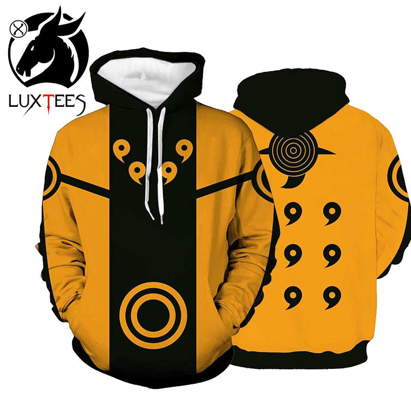 Naruto Hoodies Boruto Jacket Men 3D Hoodie Akatsuki Coat Uchiha Itach Cosplay Costume Kakashi Sweatshirt Luxtees