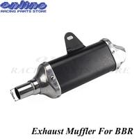 Aluminum Exhaust Muffler For BBR Style Chinese KAYO BSE Apollo Pit Bike Dirt Bike 110cc 125cc