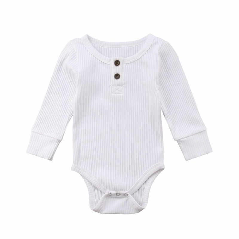 Bebê recém-nascido menino meninas manga longa macacão macacão playsuit roupas roupas outono inverno quente macacão roupas
