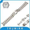 19mm 20mm Faixa de Relógio de Aço Inoxidável + Ferramenta para Longines mestre L2 Borboleta Bracelete Extremidade Curva Correia de Pulso Pulseira prata