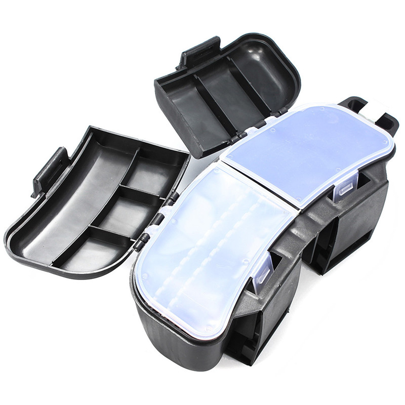 Bobing Tackle Boxes With Waist Belt 26x9.5x9cm Plastic Waist Bag Outdoor Travel Kit Fishing Lure Baits Storage Box Live Bait Box