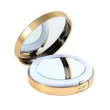 LED Зеркало для макияжа 3 цвета Легкие Портативные Складные Карманные Двойные Боковые Круглые Зеркал