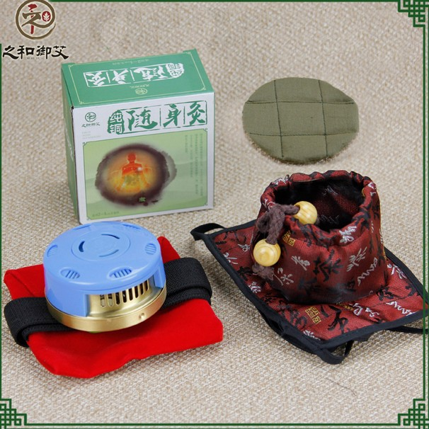 Cervical single cloth cover copper moxibustion box querysystem cauterize moxa utensils neck moxa roll box купить
