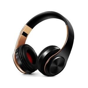 Image 3 - 패션 접이식 귀에 무선 이어폰 헤드셋 스테레오 이어폰 3.5mm 연결 포트 전화 dj mp3 스포츠 이어폰