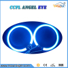 Free Shipping CCFL Angel eyes fog light 100mm/105/120mm/125mm CCFL Angel Eyes halo rings conversion kit with one inverter