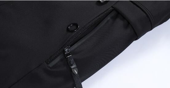 Men's jacket plus velvet padded down padded jacket