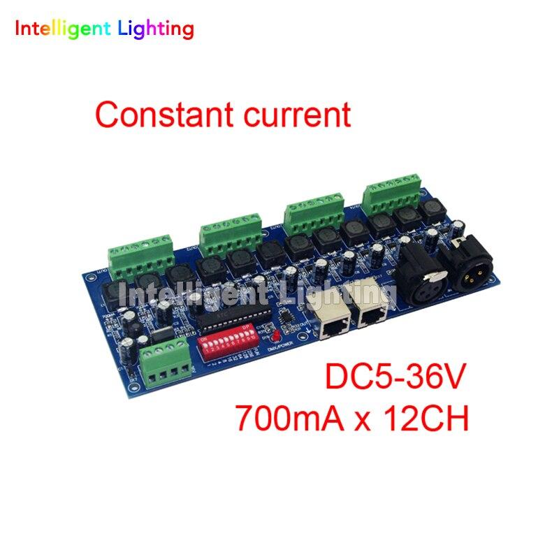700ma corrente costante 12CH dmx dimmer, 12 canali dmx 512 dimmer, LED DMX512 decoder700ma corrente costante 12CH dmx dimmer, 12 canali dmx 512 dimmer, LED DMX512 decoder